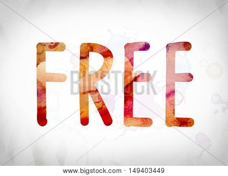 Free Concept Watercolor Word Art