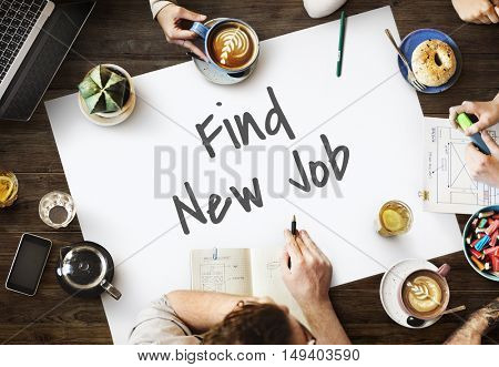 Find New Job Act Concept