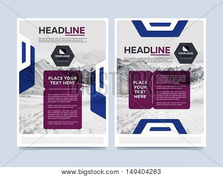 Cover design for annual report or brochure. Booklet or flyer. Abstract presentation templates. Creative concept in bright colors. Brochure layout design vector illustration.