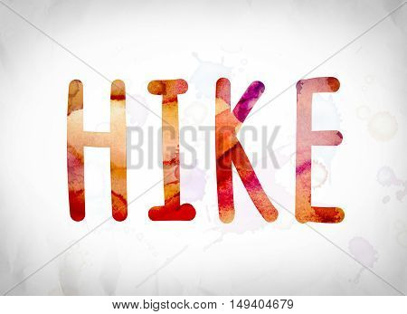 Hike Concept Watercolor Word Art