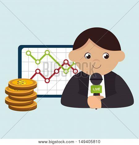 man rating news money vector illustration eps 10