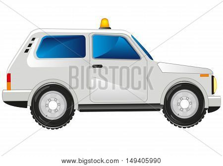 Passenger car dune buggy on white background is insulated