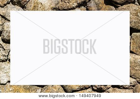 picture frame form Stacked Stone Wall, object
