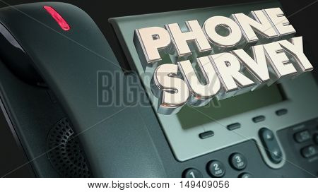 Phone Survey Ask Answer Questions Poll Respond 3d Illustration