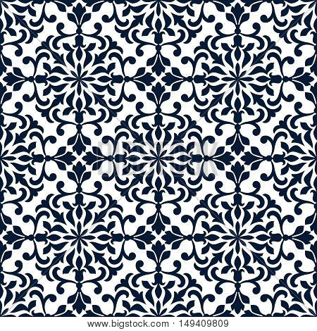 Ornamental openwork pattern. Stylized floral ornate decor. Vecor ornament patchwork seamless tile