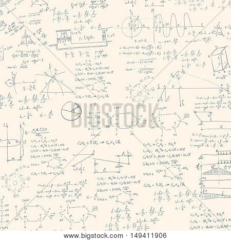 A blackboard with mechanical formula. A Contemporary style.  flat design illustration isolated white background. Square layout