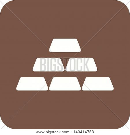 Gold, bars, cash icon vector image.Can also be used for currency. Suitable for use on web apps, mobile apps and print media.