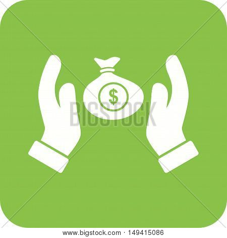 Money, security, bank icon vector image. Can also be used for currency. Suitable for use on web apps, mobile apps and print media.