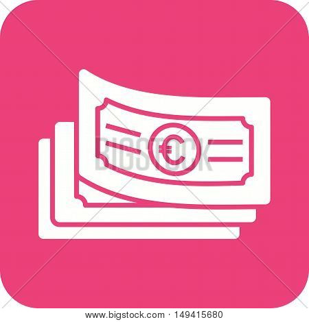 Cash, euro, money icon vector image. Can also be used for currency. Suitable for web apps, mobile apps and print media.