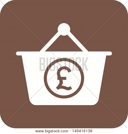 Basket, pound, money icon vector image. Can also be used for currency. Suitable for web apps, mobile apps and print media.