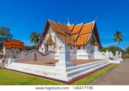 Wat Phumin is a unique thai traditional temple with Lanna style (northen of thailand) Nan province Thailand