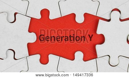 Generation Y and puzzle background