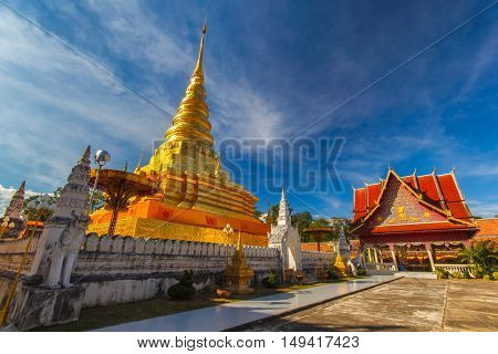 Wat Pra That Chae Haeng Nan province Thailand