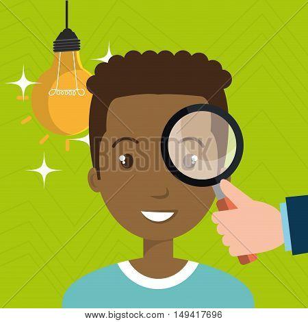 man search idea think vcector illustration eps 10