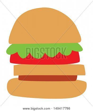 Hamburger and sandwich fast food vector.