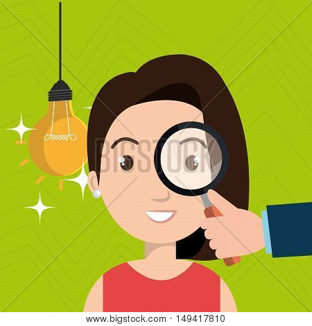 woman search idea think vector illustration eps 10