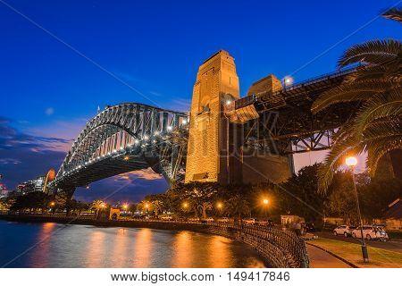 Sydney Harbour Bridge Sydney Australia at sunset