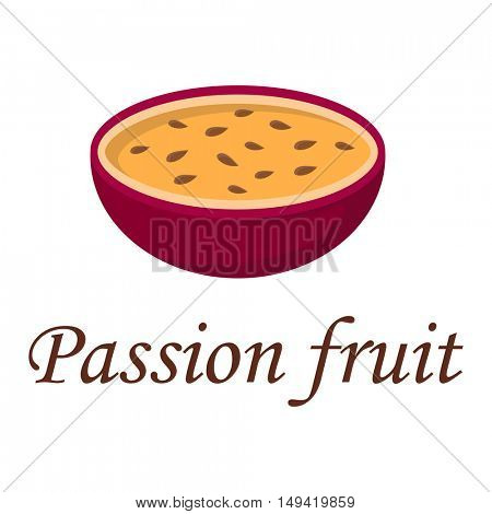 Passion fruit vector illustration