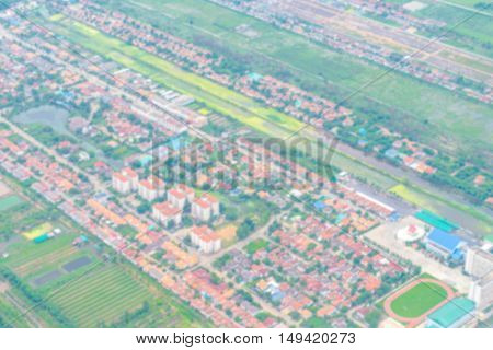Abstract blur Aerial view