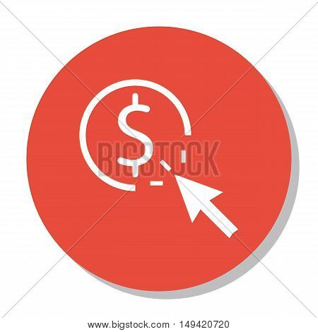 Vector Illustration Of Seo, Marketing And Advertising Icon On Pay Per Click In Trendy Flat Style. Se