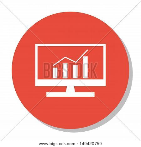 Vector Illustration Of Seo, Marketing And Advertising Icon On Comprehensive Analytics In Trendy Flat