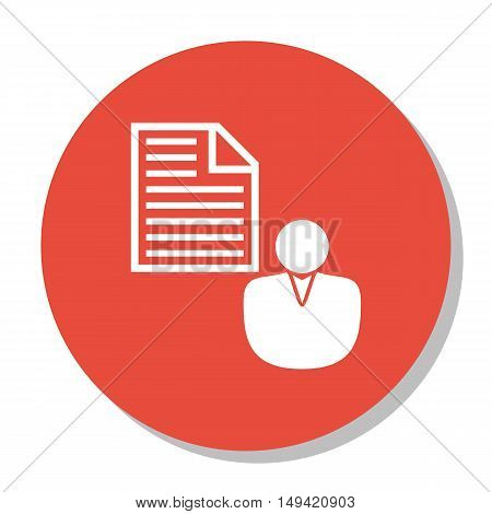 Vector Illustration Of Seo, Marketing And Advertising Icon On Client Brief In Trendy Flat Style. Seo