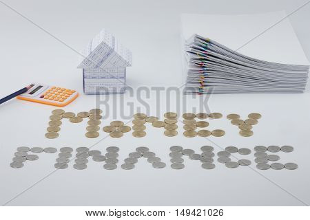 House And Pile Document With Colorful Paperclip
