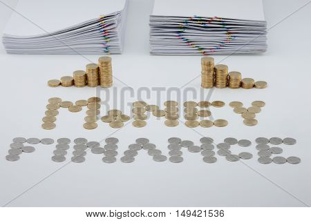 Split Step Pile Of Gold Coins And Pile Overload Document
