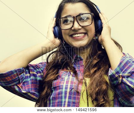 Indian Teen Girl Smiling Portrait Concept