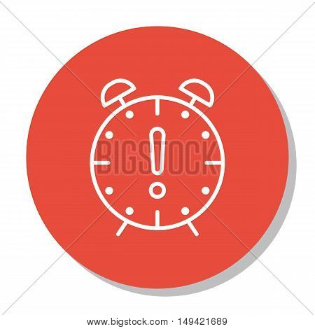 Vector Illustration Of Project Management Icon On Deadline And Time Management In Trendy Flat Style.