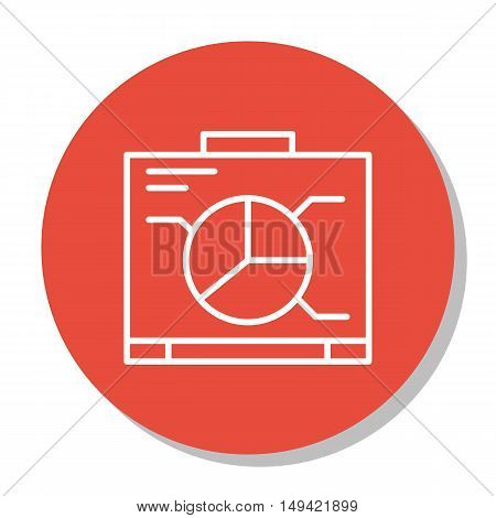 Vector Illustration Of Project Management Icon On Graph, Chart And Presentation In Trendy Flat Style