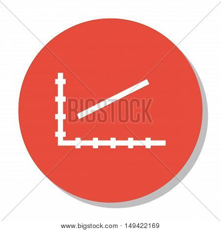 Vector Illustration Of Statistics Icon On Line Chart Graph In Trendy Flat Style. Statistics Isolated