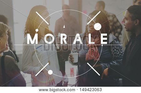 Morale Courage Spirit Suport Will Concept