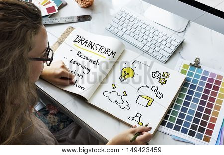 Brainstorm Education Inspire Learn Diagram Concept