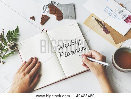 Weekly Planner Agenda Calendar Concept