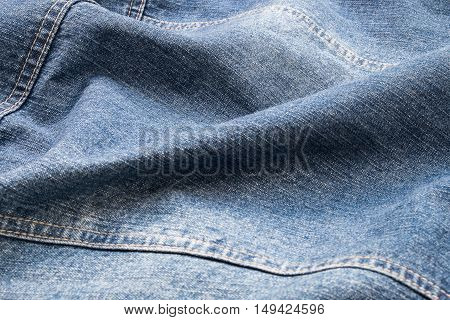 Wavy on jeans texture for pattern and background.