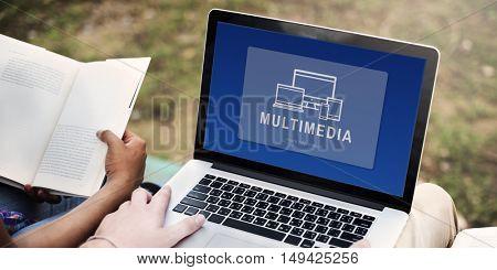 Multimedia Digital Design Innovation Computer Concept