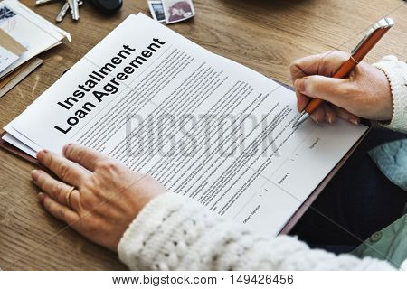 Installment Loan Agreement Credit FInance Debt Concept