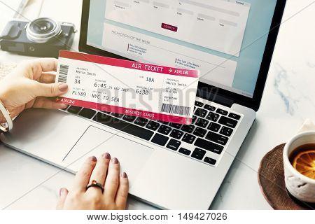 Ticket Booking Trip Departure Journey Concept