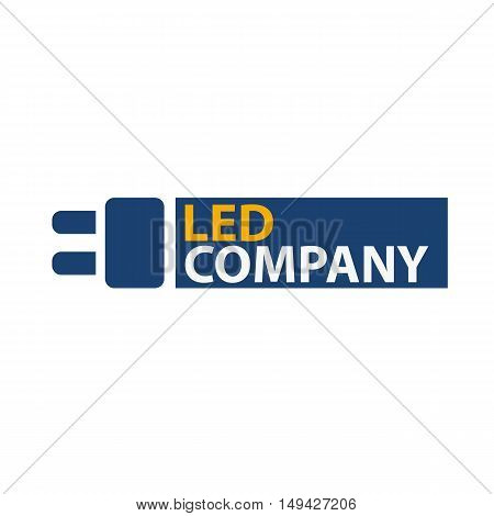 Led Bulb Logo. Led Company Logo. Led Illumination. Corporate Logo Design.