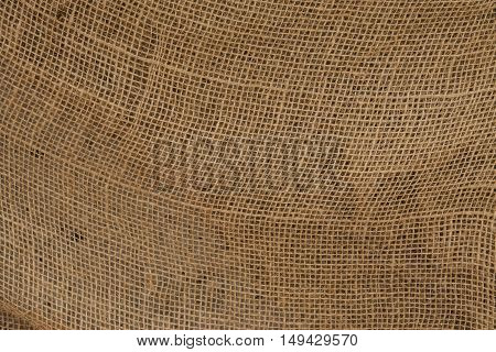 burlap, fabric texture, brown background, cloth yellow