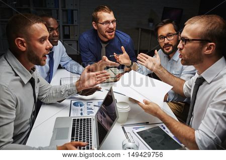 Discussing creative project