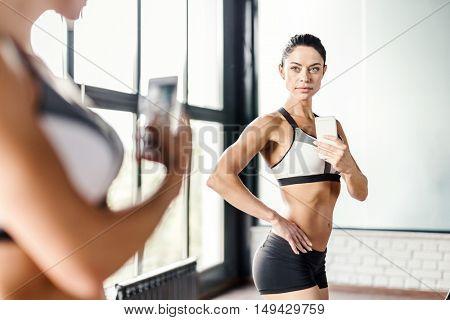 Selfie in gym