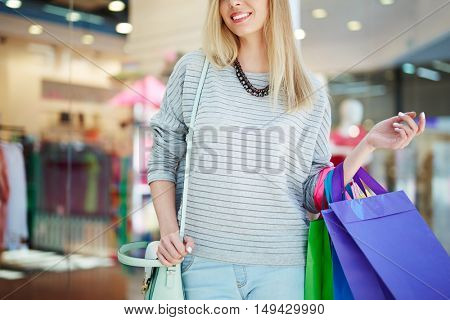Shopper at sale