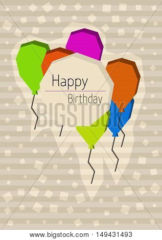 Birthday Poster With Cornered Balloons