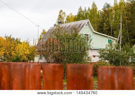 House In A Village In Summer Day