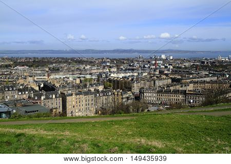 View Over Edinburgh, Scotland