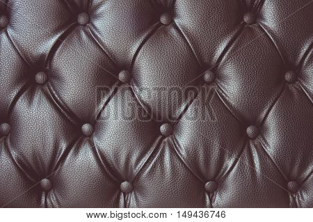 vintage tone of eather texture with buttoned pattern