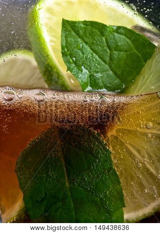 Cola With Lime  And Peppermint