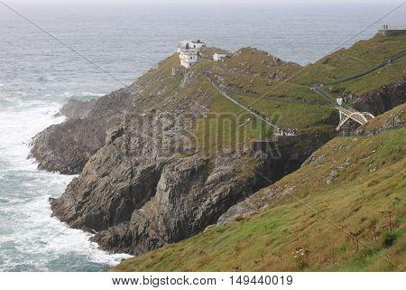 Landscape view of Mizen Head in County Cork, Ireland
